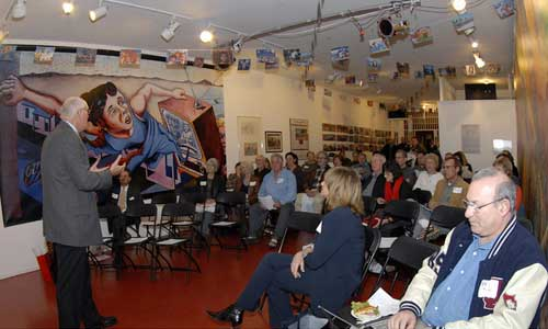Councilman Bill Rosendahl speaks to VCA members and guests at their annual meeting January 25th held at SPARC.