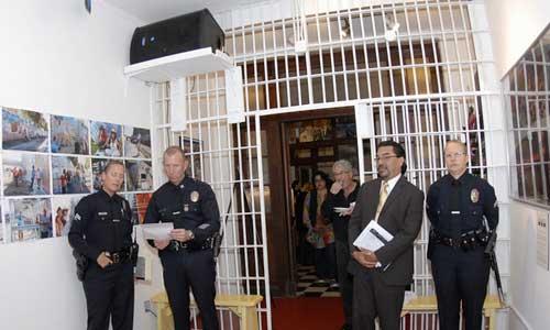 Left to right ... our LAPD Senior Lead Officers Peggy Thusing, LAPD Captai Jon Peters, Councilman Rosendahl's Deputy Director for Vennice/Marina Penensula Arturo Pina, Senior Lead Officer Theresa Skinner