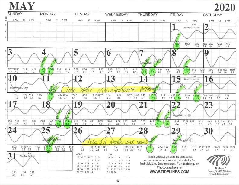 May 2020 Flushing Schedule