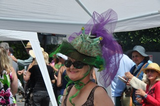 Barbara Nestha ... winner of the Crazy Hat Contest ... is that a real sea slug ???