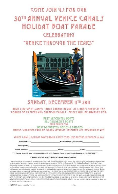 2011 Boat Parade Flyer & Entry Forms